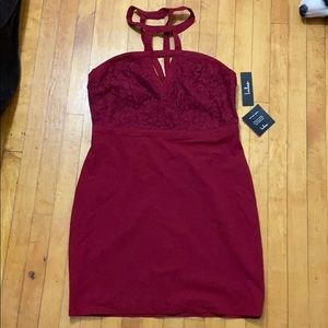 NWT Lulus evening dress (maroon)
